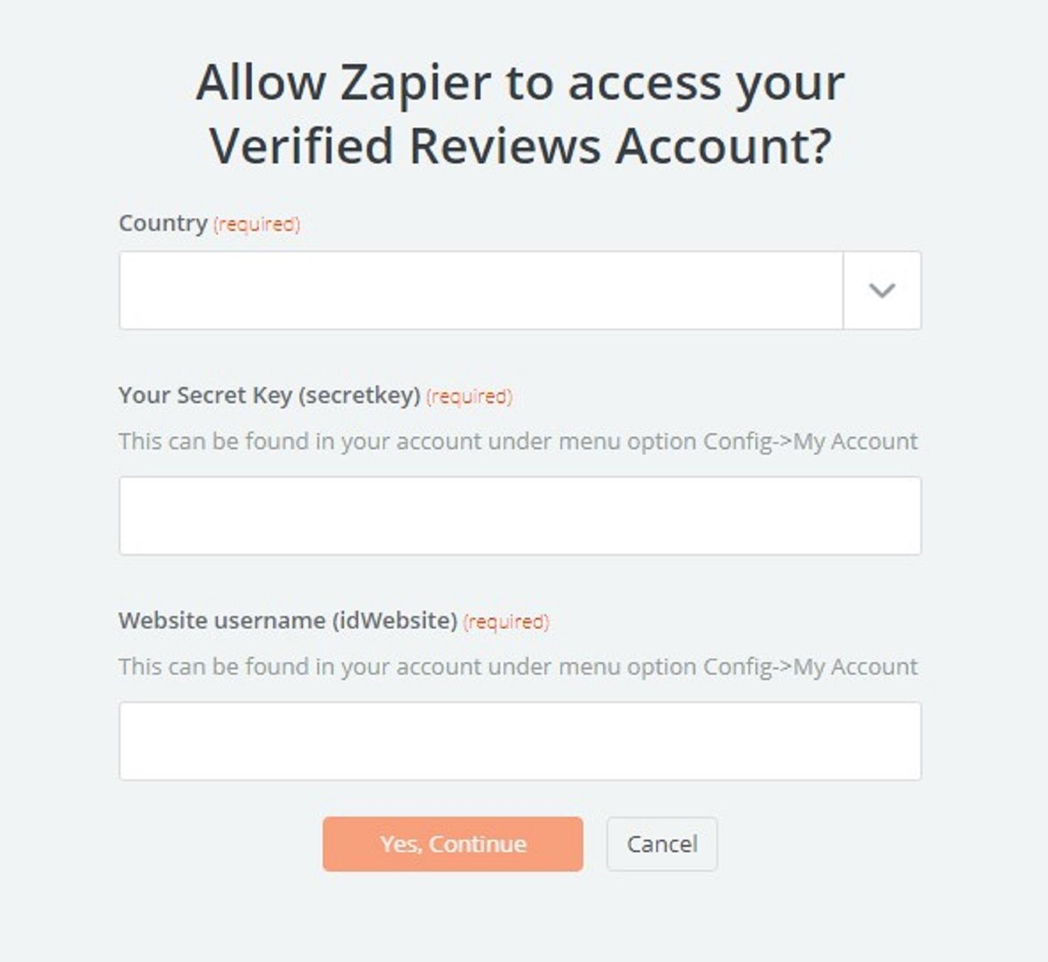 Verified Reviews API Key