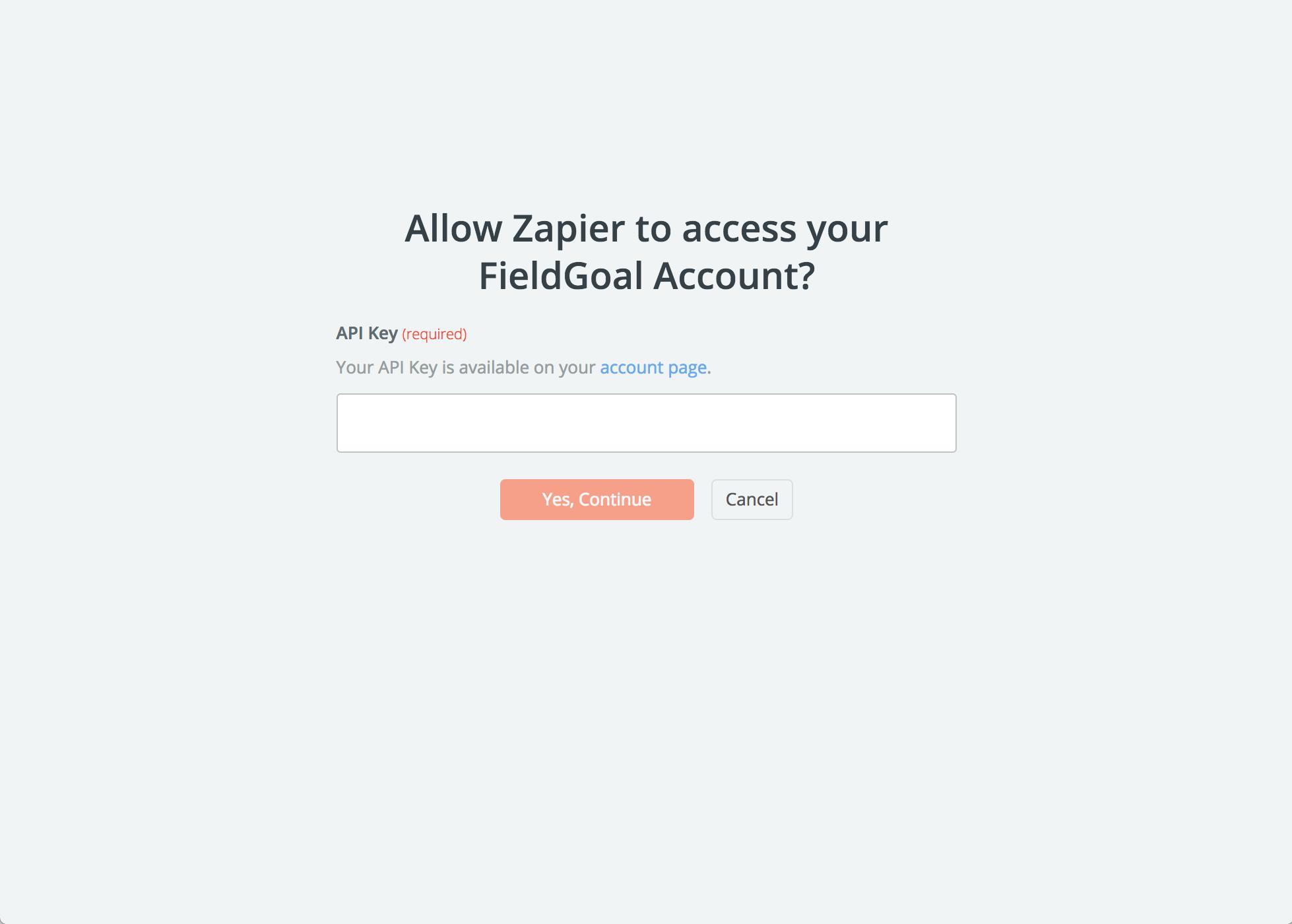 FieldGoal API Key