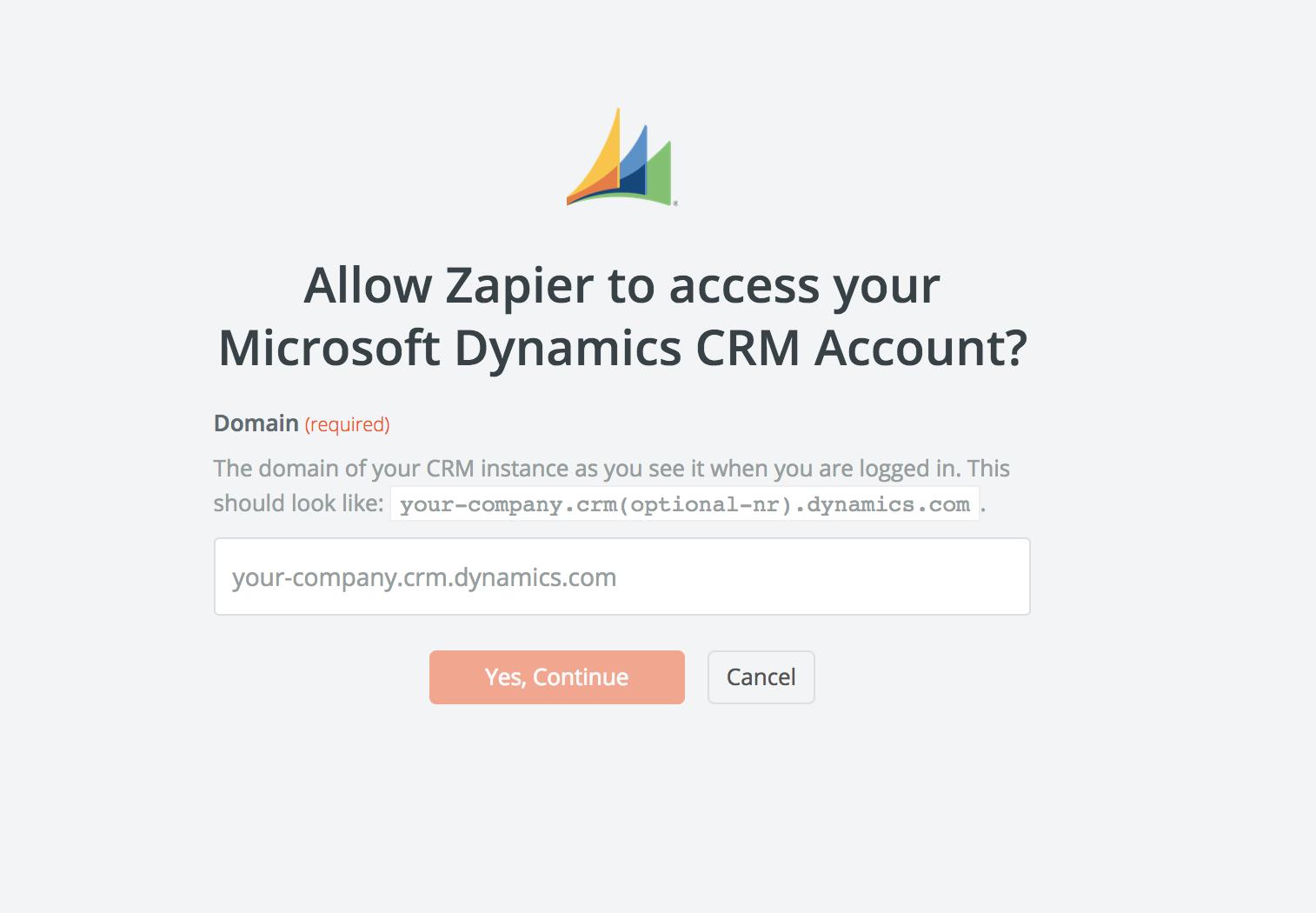 Microsoft Dynamics Domain URL