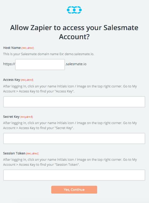 Salesmate API Key