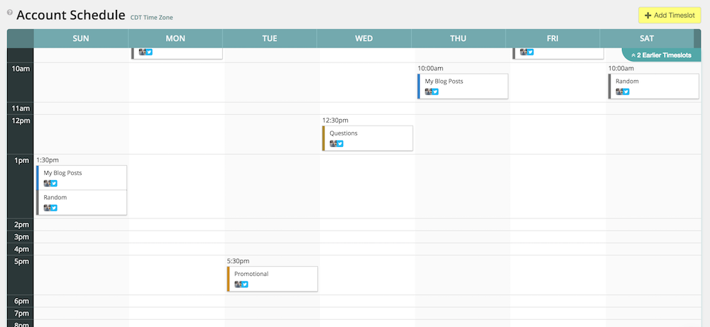 Scheduling Tweets with MeetEdgar's content calendar