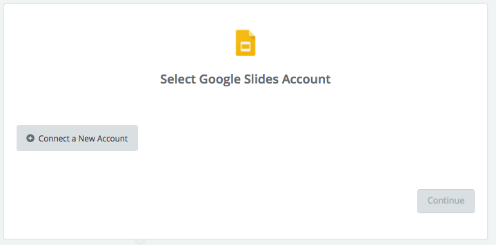 Click to connect Google Slides