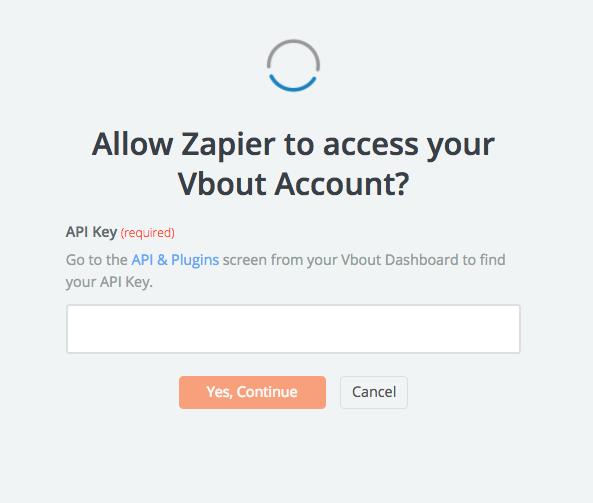 Vbout API Key