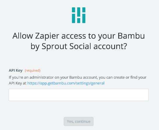 Bambu by Sprout Social API Key