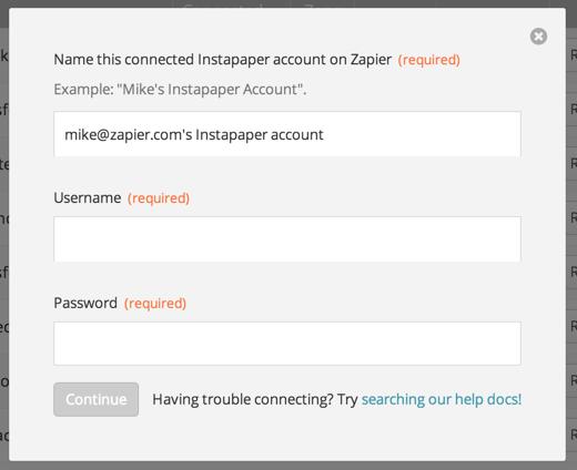 Label your Instapaper account