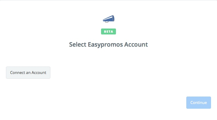 Click to connect Easypromos