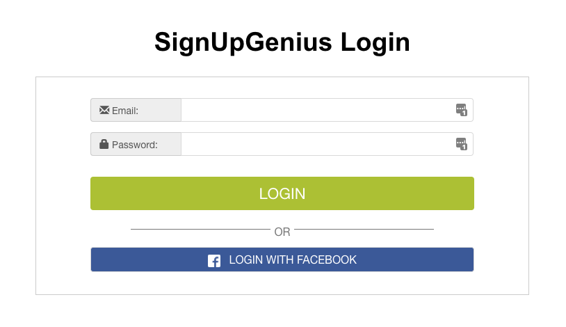 Login to SignUpGenius