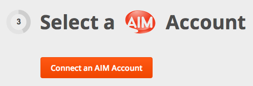 how to get aim account to connect messages