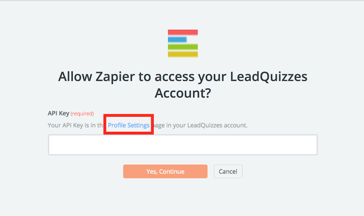 LeadQuizzes API Key