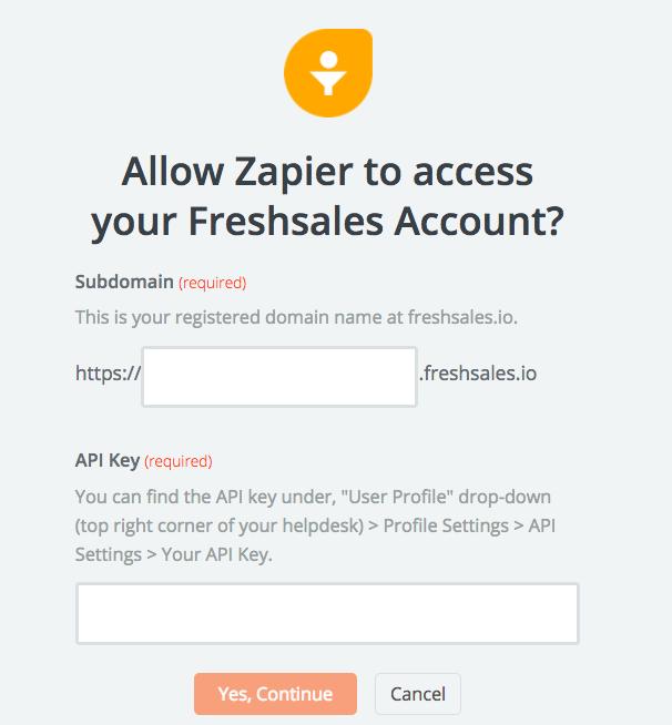 Freshsales API Key