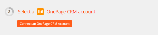 Click to add a OnePage CRM account