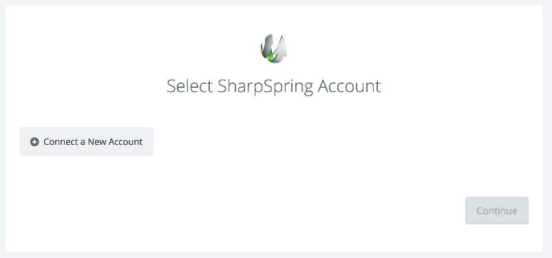 Click to connect SharpSpring