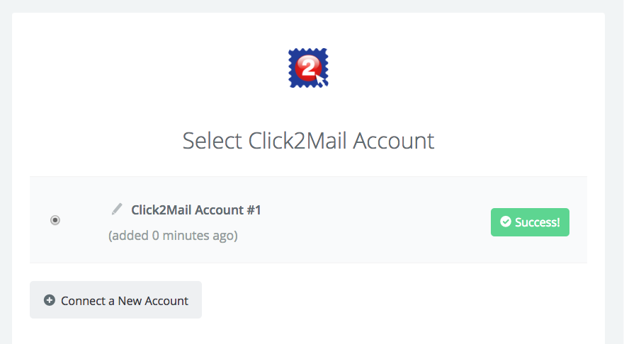 Click2Mail connection successfull