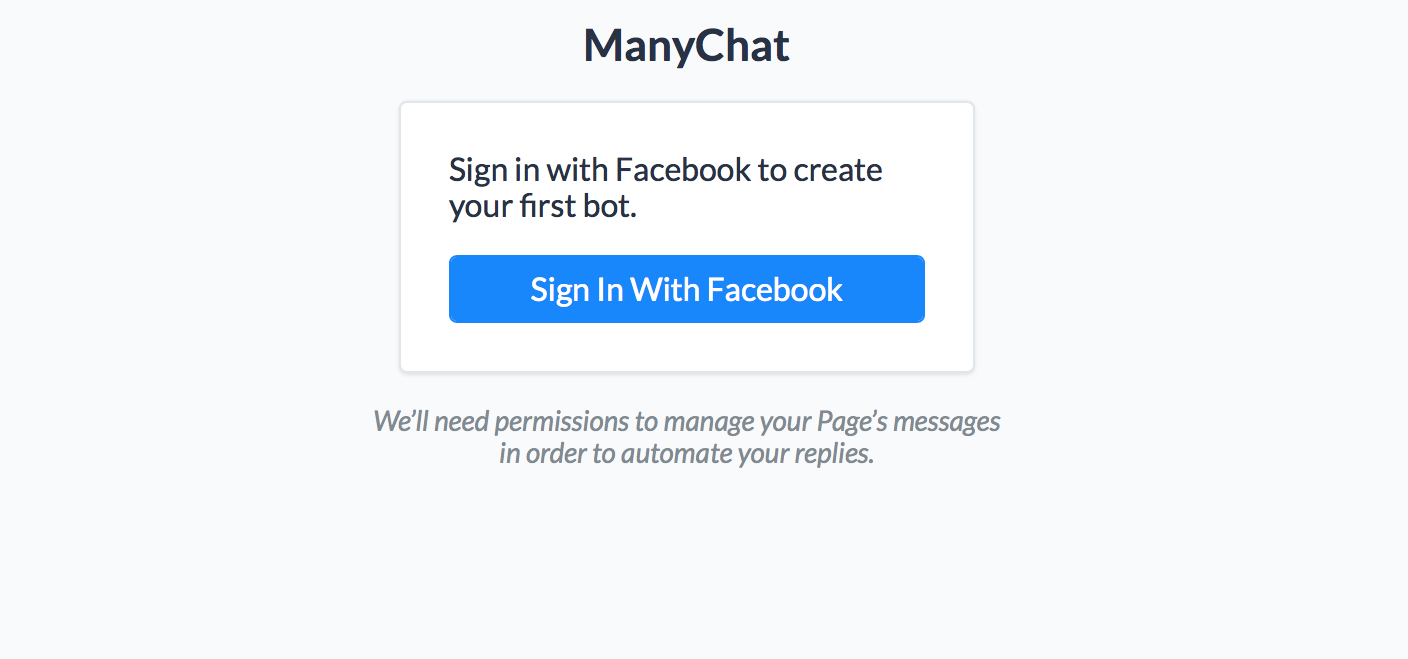 Login to ManyChat