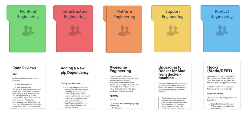 Quip documentation for engineering