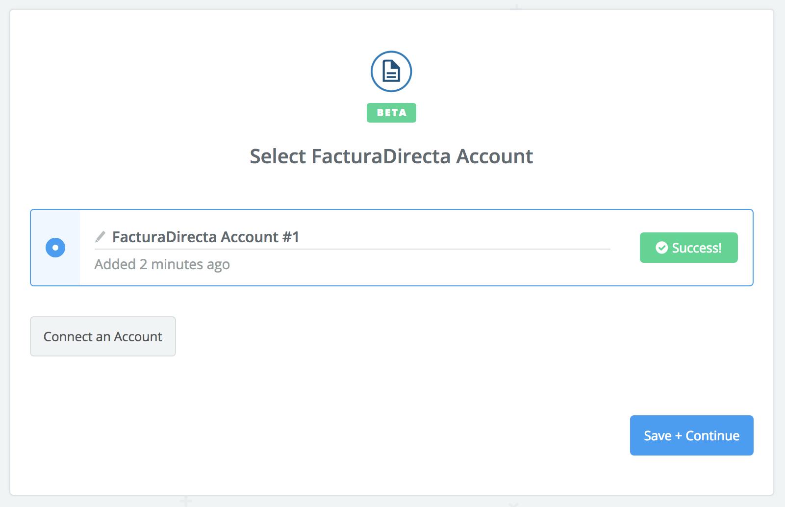 FacturaDirecta connection successfull
