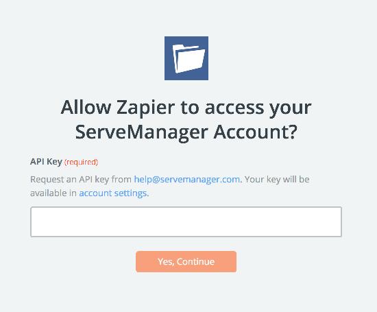 ServeManager API Key