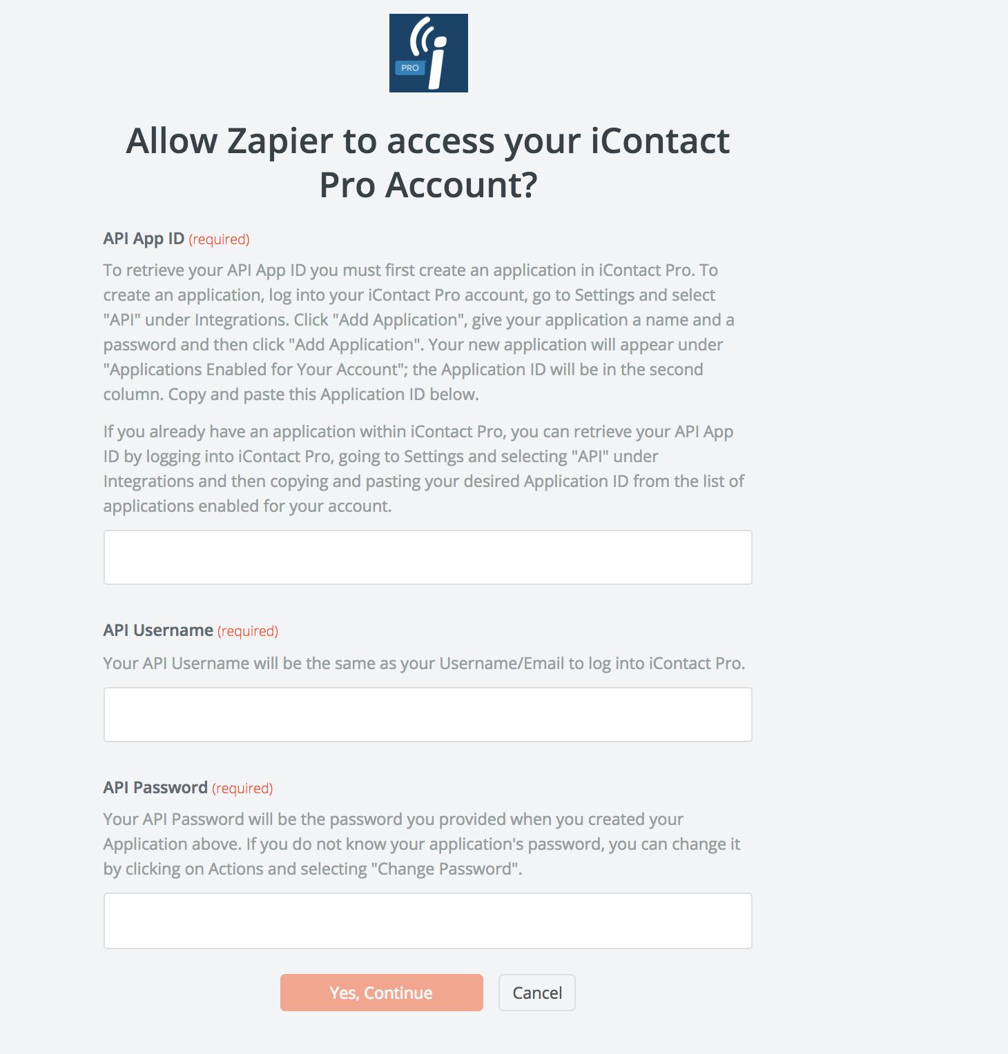 iContact Pro login