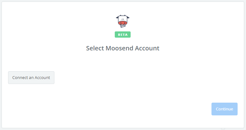 Click to connect Moosend