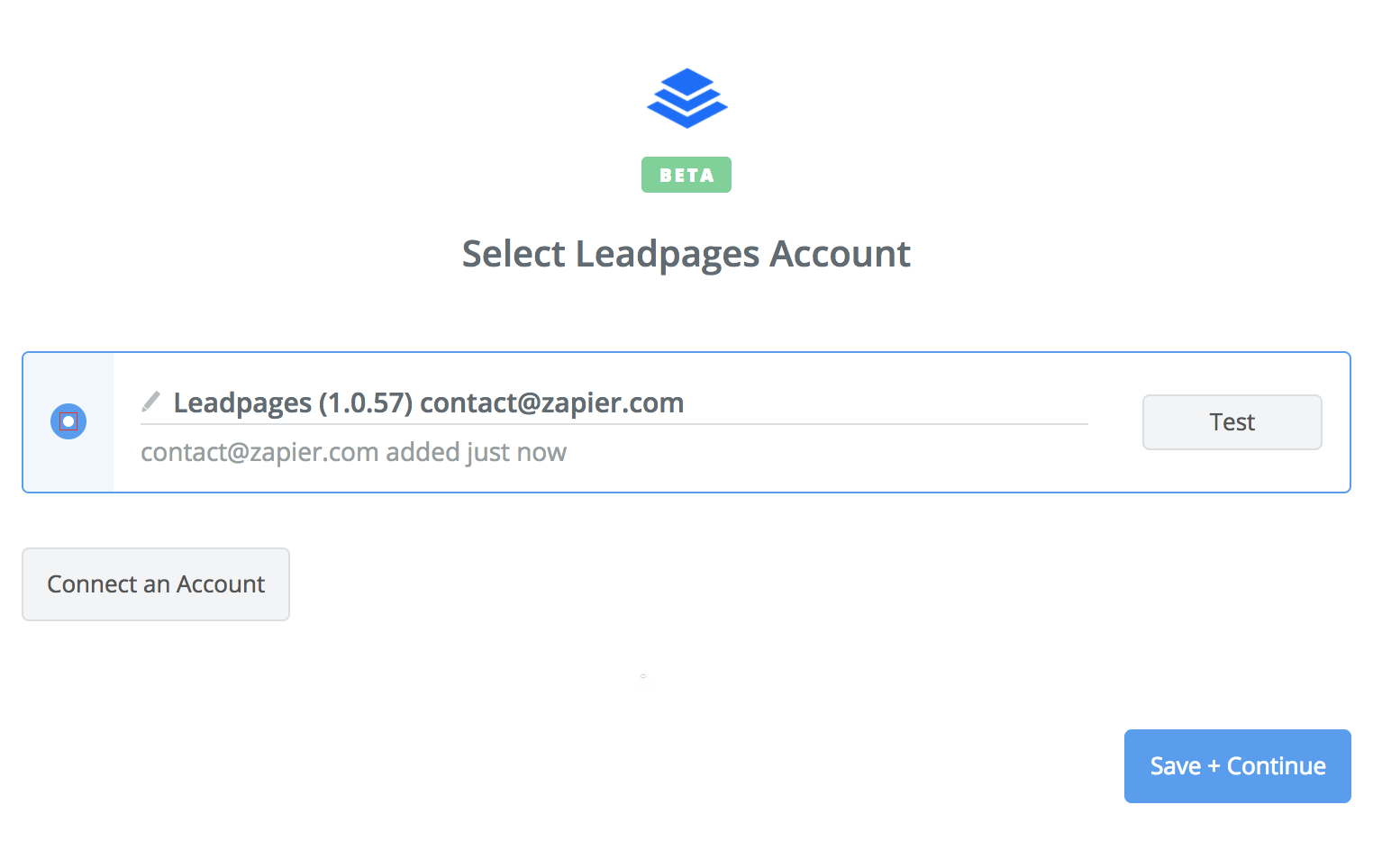 Leadpages connection successfull