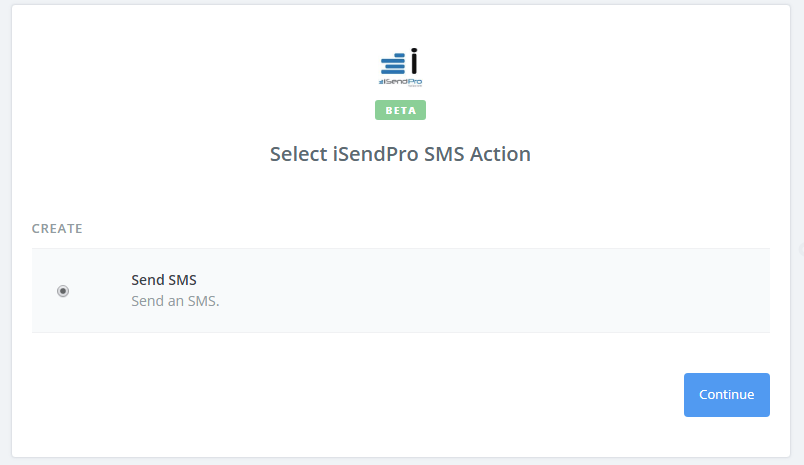 Click to connect iSendPro SMS