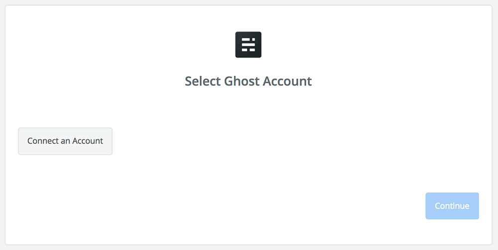 Click to connect Ghost