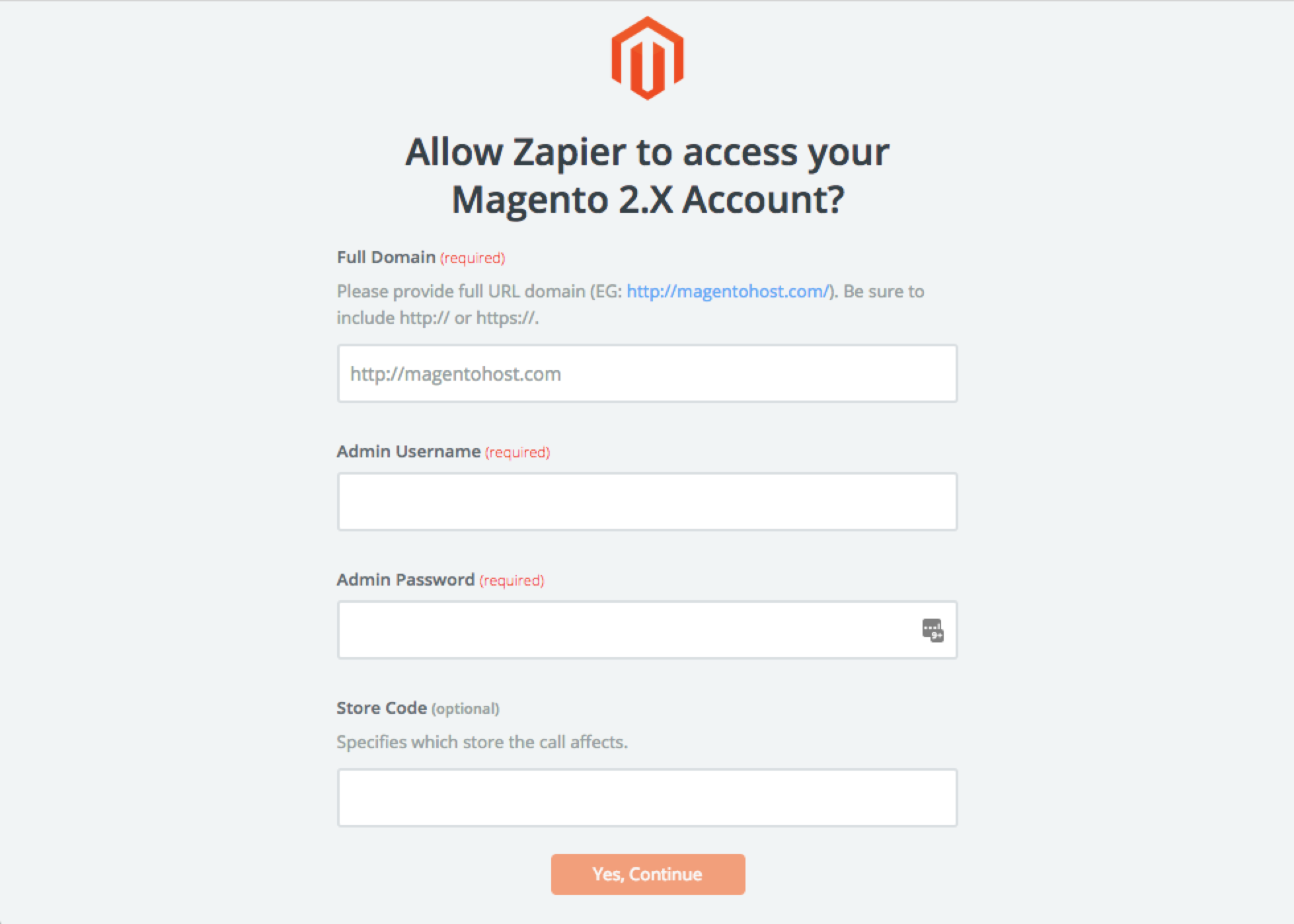 Magento 2.X username and password