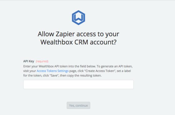 Wealthbox CRM API Key
