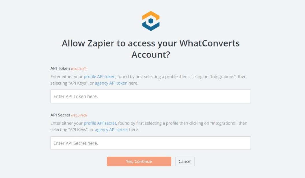 WhatConverts username and password