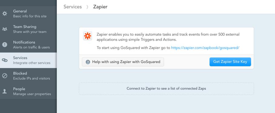 GoSquared Zapier Key