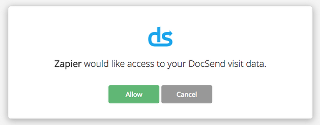 Give Zapier Access to DocSend