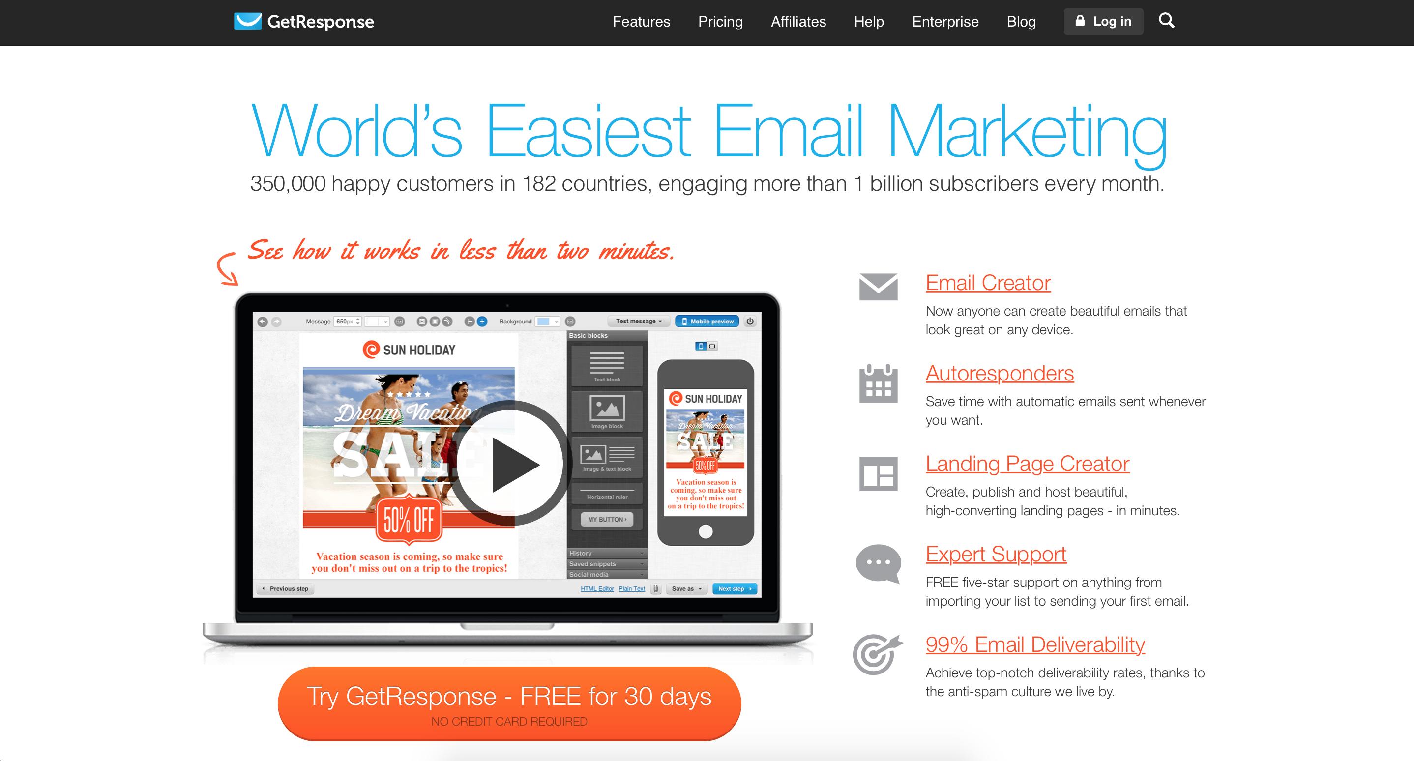 GetResponse Review (Pricing, Features & Alternatives) - Zapier