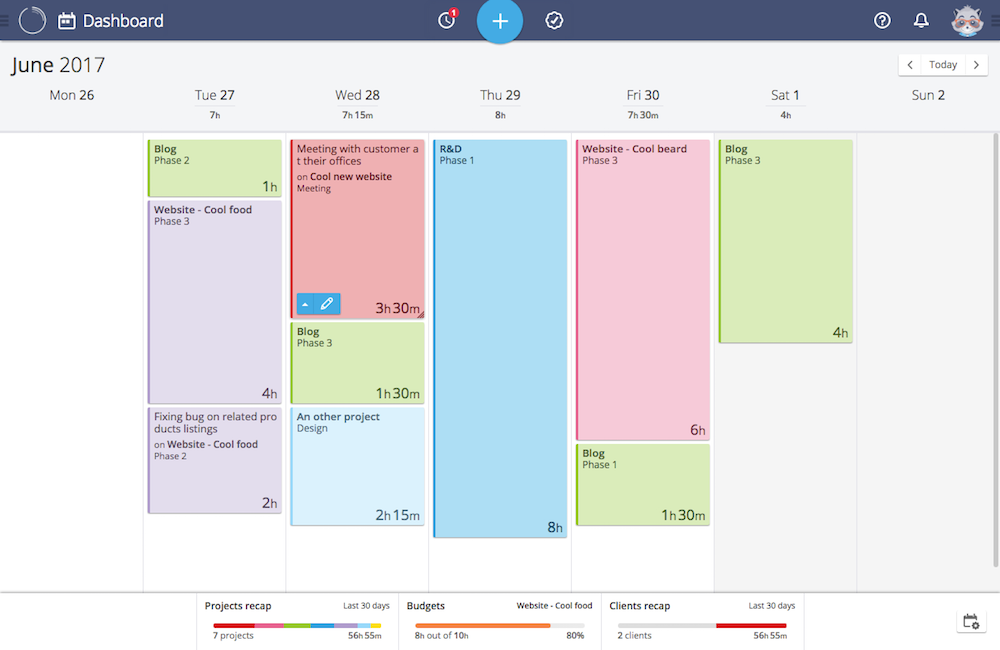Timeneye lets you track your team's time with a Kanban layout