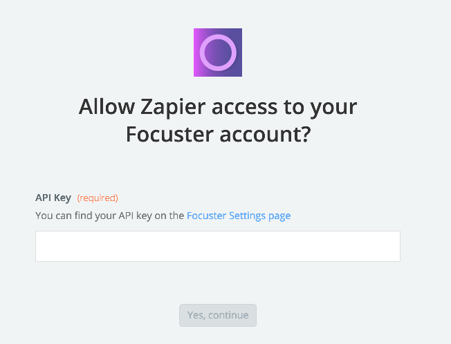 Focuster API Key