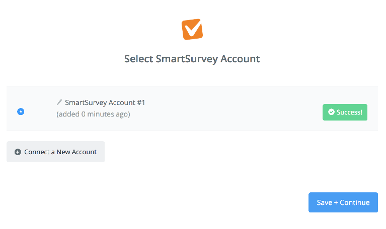 SmartSurvey connection successfull