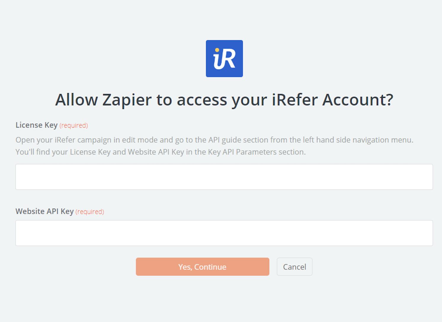 iRefer API Key
