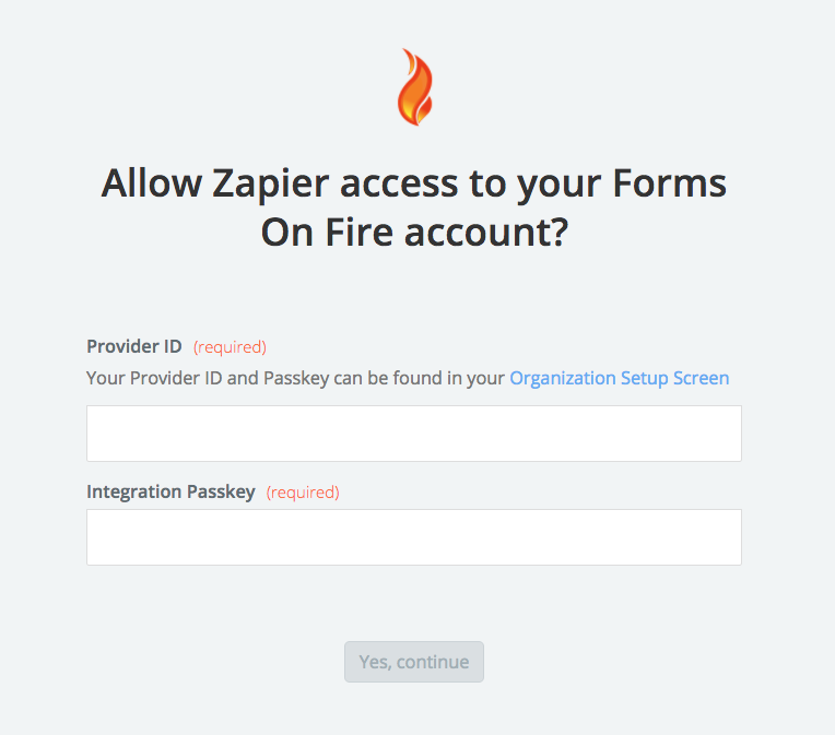Forms On Fire username and password