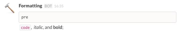 Slack formatting in Slack