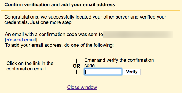 Verify old Gmail account