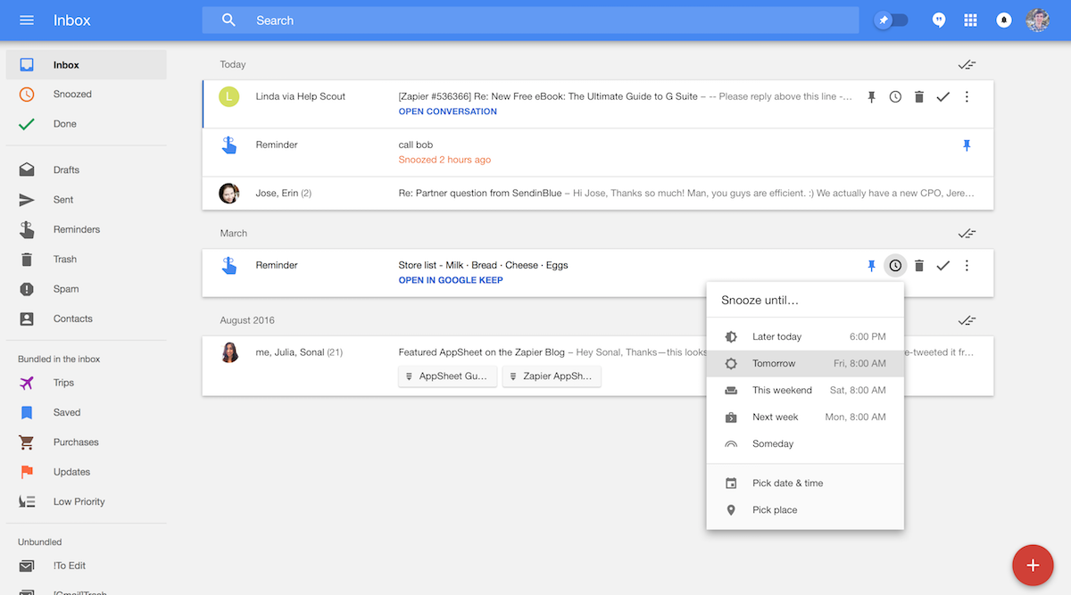 Gmail outlook like theme