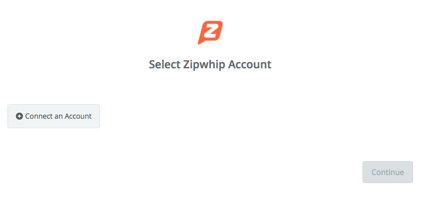 Click to connect Zipwhip