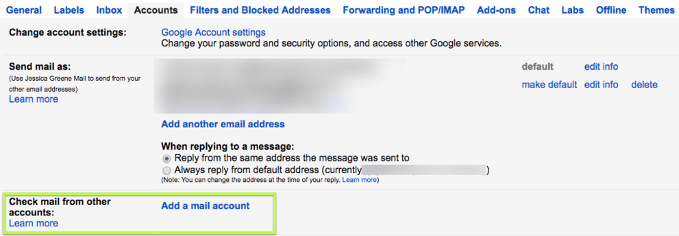 Add a new Gmail account to an existing account