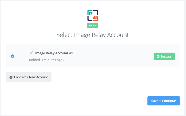 Image Relay connection successfull
