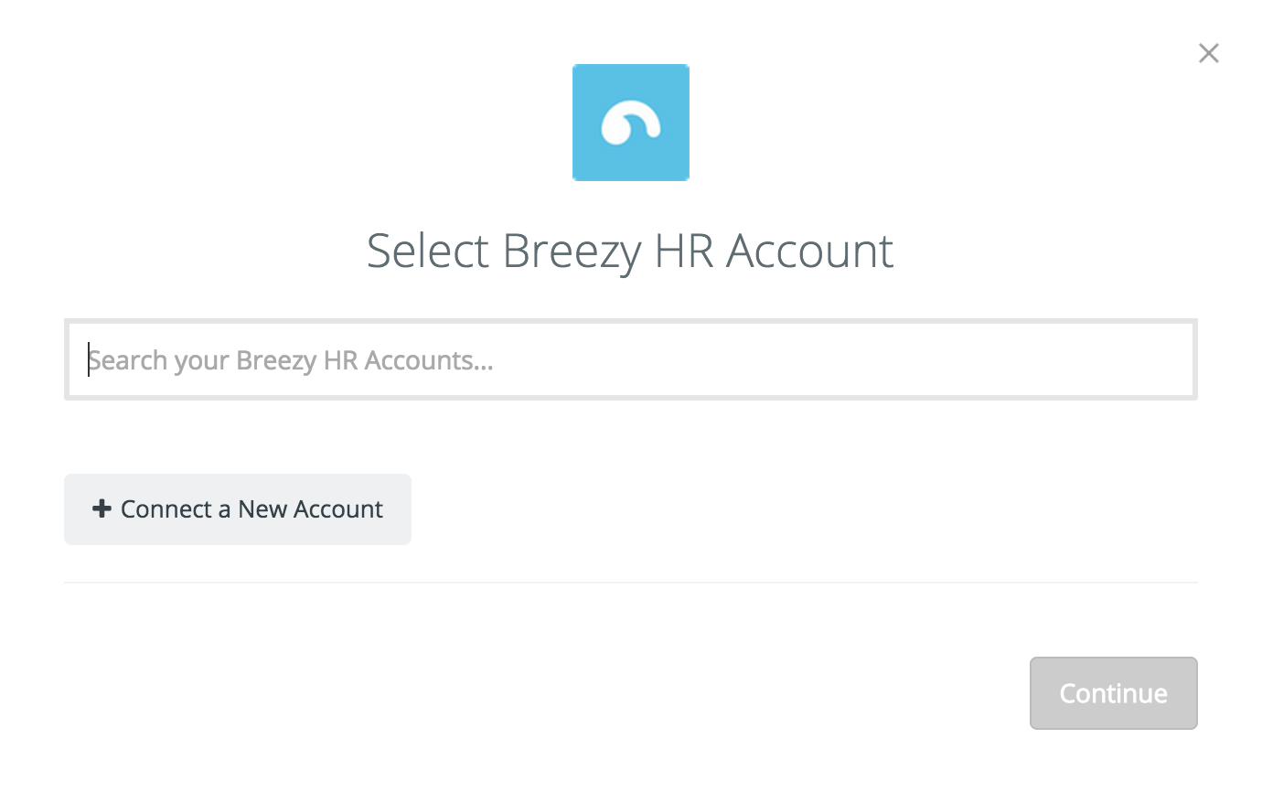 Connect your Breezy account to Zapier