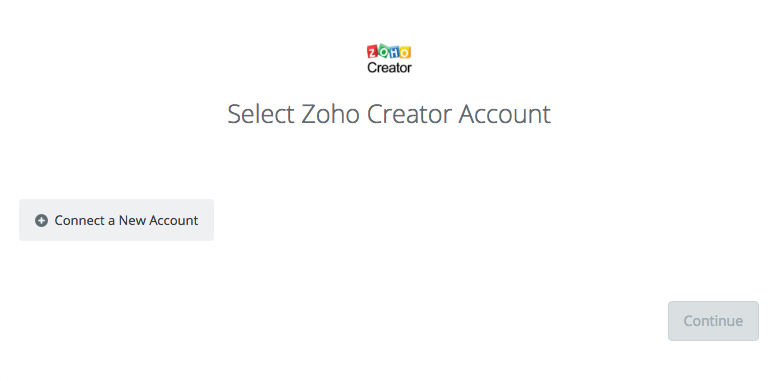 Zoho Creator Click to connect