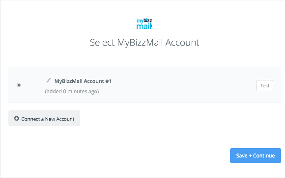 MyBizzMail connection successfull
