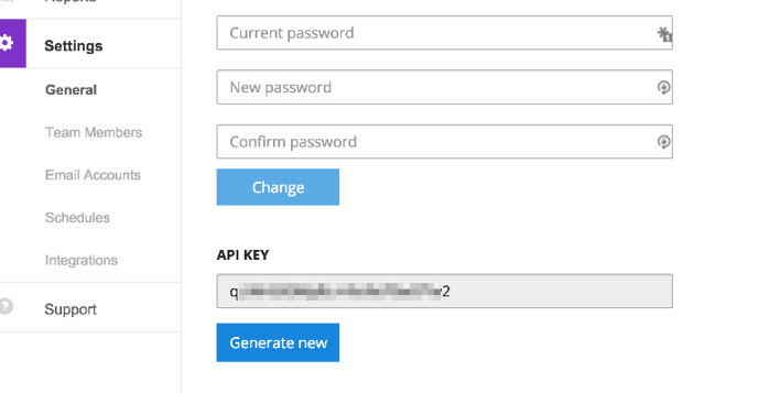 Reply API Key in APP account