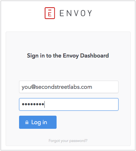 Log in to you Envoy account