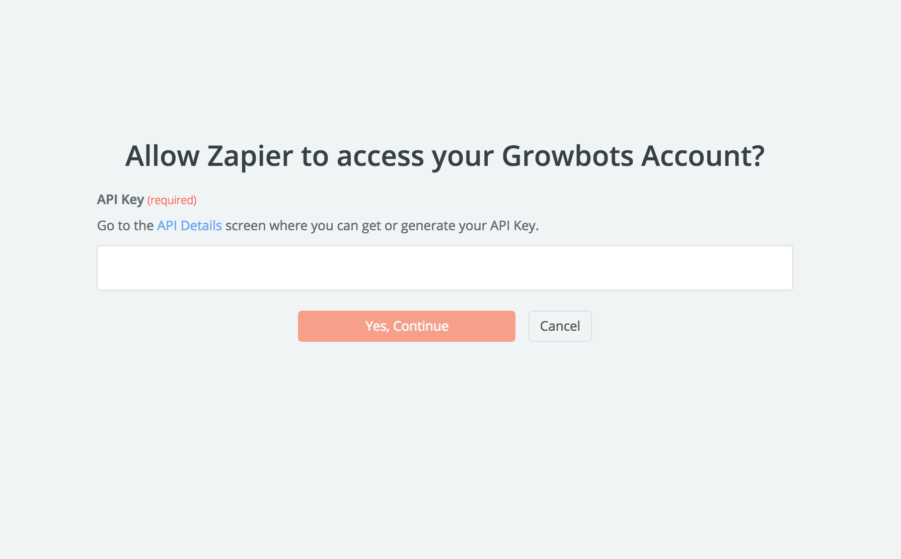 Growbots API Key