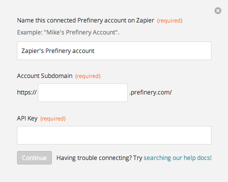Finding your Prefinery API Key